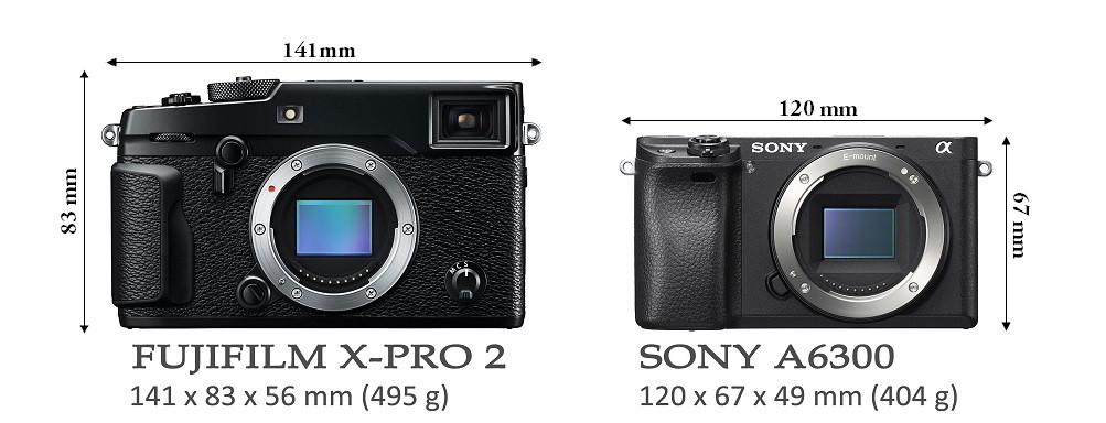 so sánh sony a6300 và fujifilm x-pro 2
