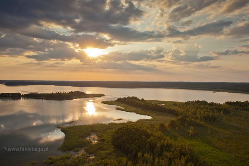 Jezioro Wigry z lotu ptaka