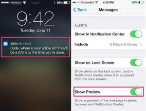Hướng dẫn cách tránh bị người khác xem nội dung tin nhắn ở màn hình khóa trên iPhone