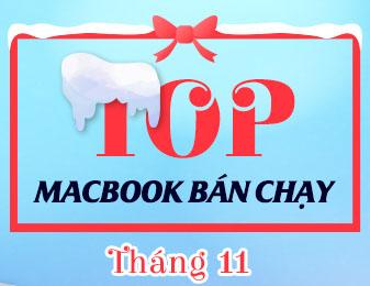 top macbook bán chạy thang 11