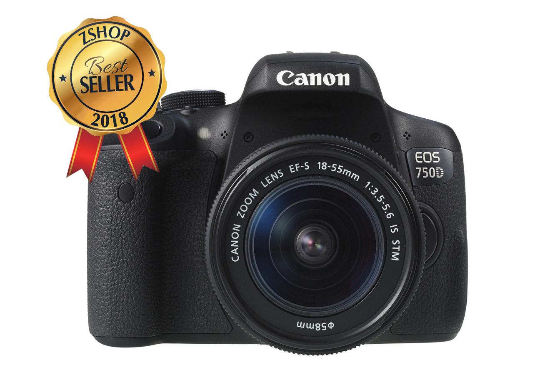 Canon EOS 750D (hay là EOS Rebel T6i) là máy ảnh DSLR bán chuyên hoàn hảo cho người dùng mới. Máy sở hữu cảm biến APS-C CMOS 24.2 MP và bộ xử lý ...