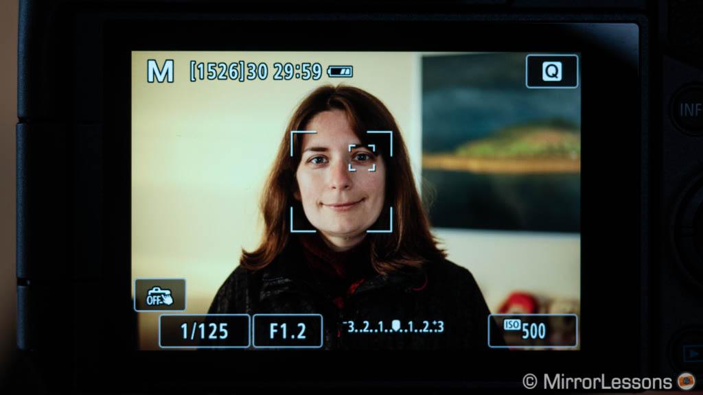 C-AF nhận diện khuôn mặt và mắt trên EOS RP