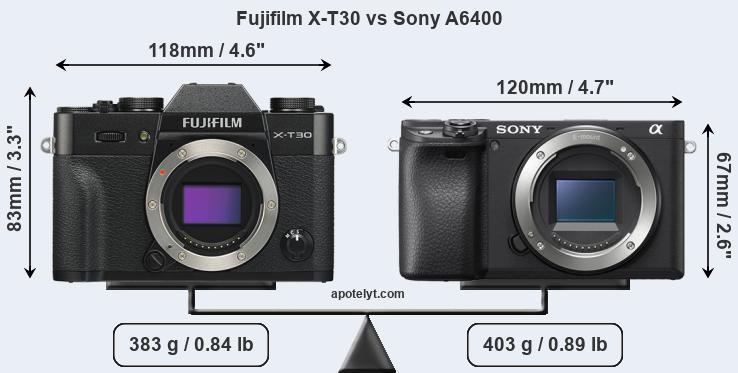 fujifilm-x-t30-vs-sony-a6400-front-a