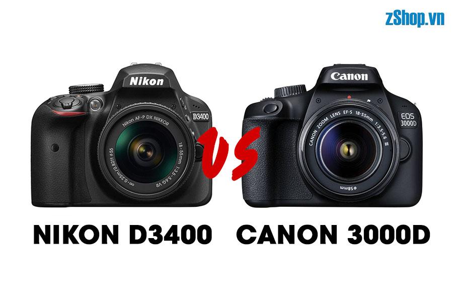 nikon d3400-vs-canon 3000d