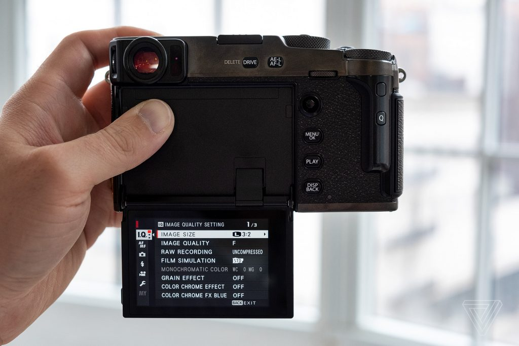 The X-Pro3 is really designed to be shot through the viewfinder, as opposed to composing images on the screen.
