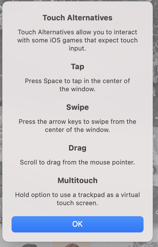 """Apple's """"Touch Alternatives"""" option for iOS apps."""
