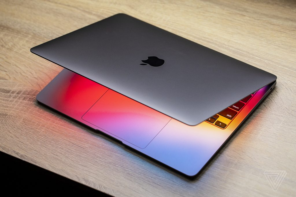 The new MacBook Air with the M1 chip.