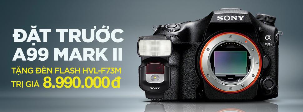 Đặt trước Sony A99 Mark II ( Body) tặng ngay Đèn Flash Sony HVL-F43M trị giá 8,990,000 VNĐ