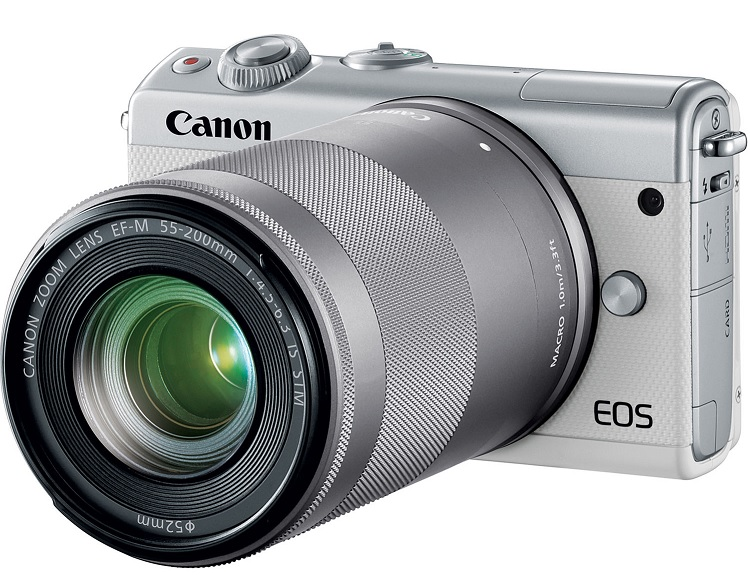 Canon EOS M100 + Kit EF-M 15-45mm & 55-200 mm /Sliver