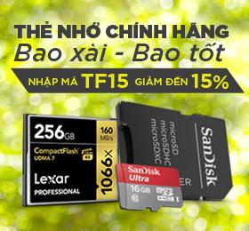 thẻ nhớ CF, SD, Micro SD giảm giá