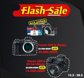 Flash sale Canon eos qua khung