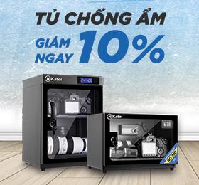 giảm ngay 10% cho tủ chống ẩm máy ảnh
