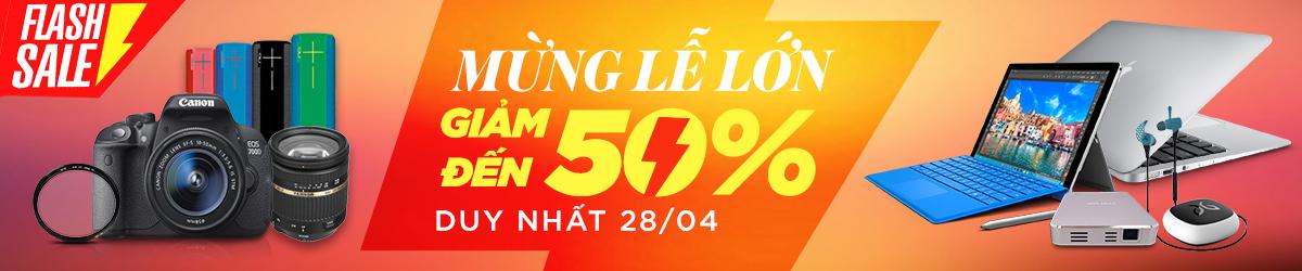 Flash Sale giảm ngay 50% giá tốt chỉ 1 ngày duy nhất