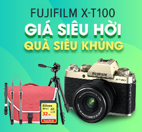 mua may anh fujifilm x-t100 gia re