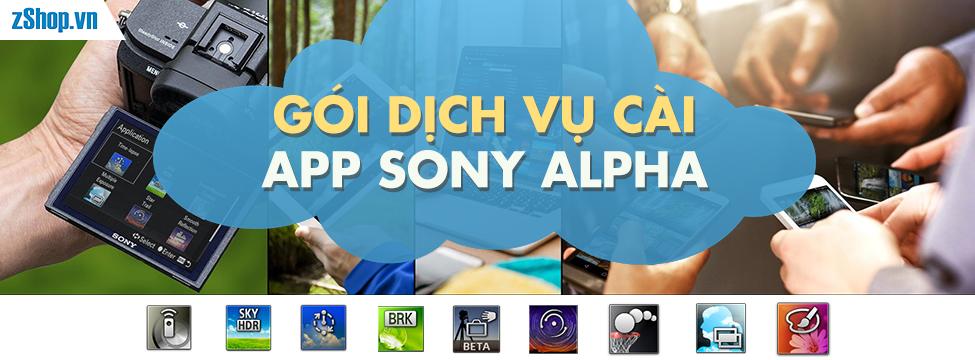 Gói dịch vụ cài App Sony Alpha (App Collections) tại zShop