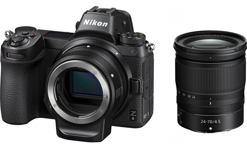 Nikon Z6 + Kit NIKKOR Z 24-70mm f/4 S + Ngàm chuyển Nikon FTZ