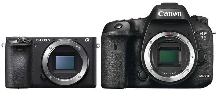 So sánh Sony A6500 và Canon 7D Mark II