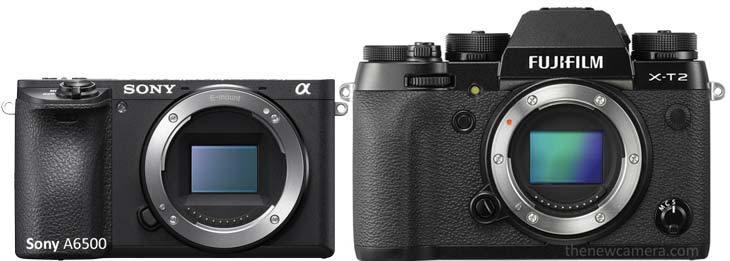 So sánh giữa Sony A6500 và Fuji X-T2