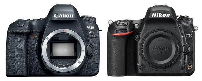 So sánh máy ảnh Canon EOS 6D Mark II và Nikon D750