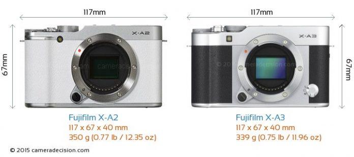 So sánh máy ảnh Fujifilm X-A3 và X-A2