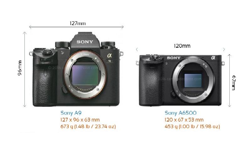 So sánh Sony A9 và A6500