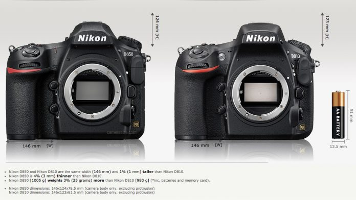 So sánh Nikon D850 với Nikon D810