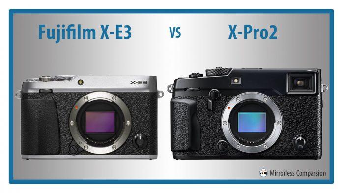 10 điểm khác biệt đáng chú ý giữa Fujifilm X-E3 và X-Pro2