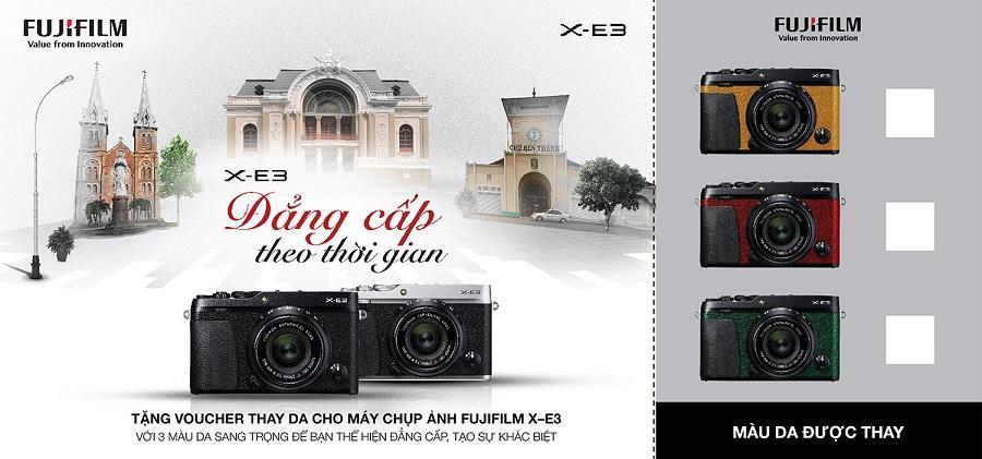 Fujifilm X-E3 chính hãng với chương trình ưu đãi khủng miễn phí thay da đẳng cấp