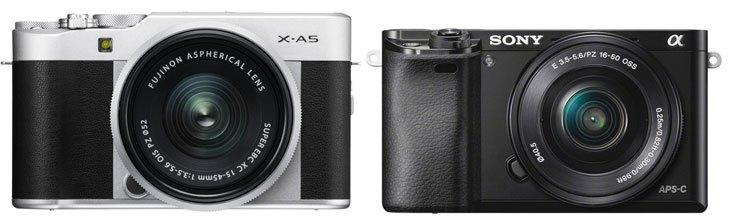 """Fujifilm X-A5 và Sony A6000 – So sánh những điểm nổi bật của hai """"siêu phẩm"""" HOT nhất hiện nay SO SÁNHTIN TỨC Fujifilm X-A5 và Sony A6000 – So sánh những điểm nổi bật của hai """"siêu phẩm"""" HOT nhất hiện nay"""