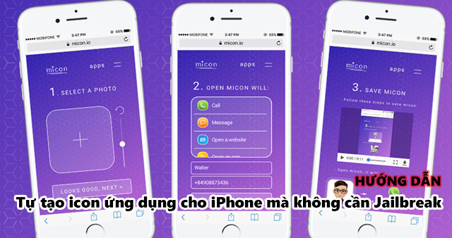 Không cần Jailbreak, đây là cách tự tạo icon ứng dụng cho iPhone
