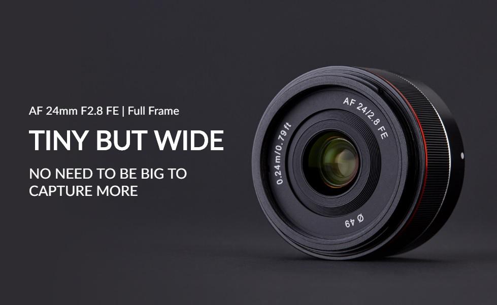 Samyang công bố ống kính AF 24mm f/2.8 FE: nhỏ, gọn, nhẹ, lấy nét chính xác hơn