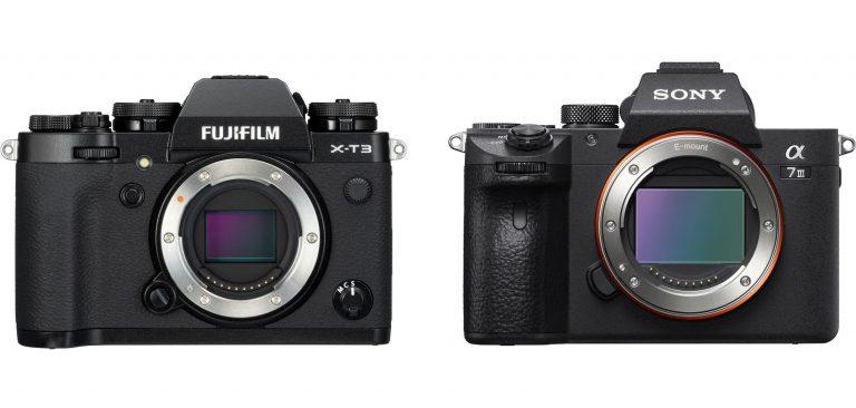 10 điểm khác chính giữa Fujifilm X-T3 và Sony A7 III