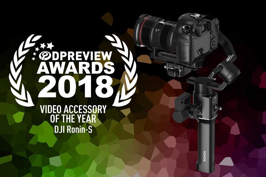 DJI Ronin-S xuất sắc chiến thắng hạng mục phụ kiện video của năm – DPReview Awards 2018