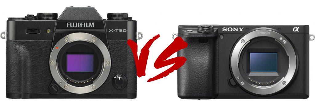 So sánh nhanh Fujifilm X-T30 vs Sony a6400