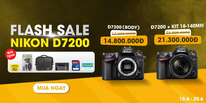 Flash Seo Nikon D7200 qua tặng hot