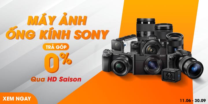HDSaigon mua máy ảnh ống kính Sony trả góp 0%