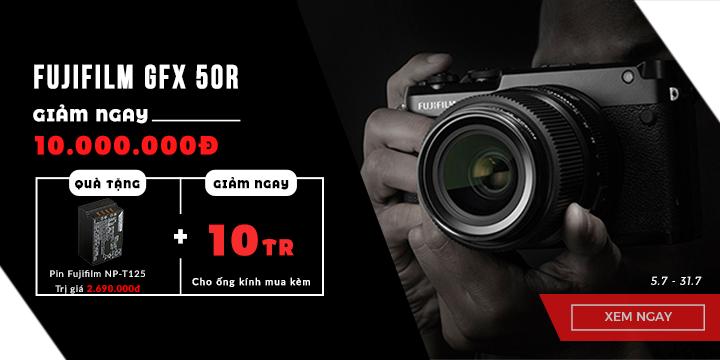 Fujifilm GFX 50R giảm ngay 10tr