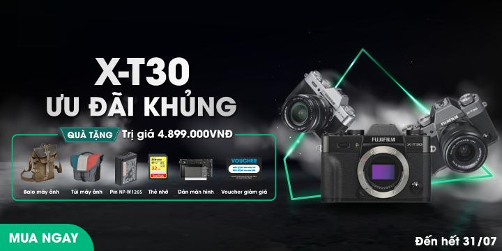 Fujifilm X-T30 ưu đãi khủng thang 6