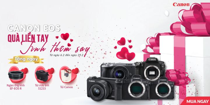 Canon EOS qua lien tay