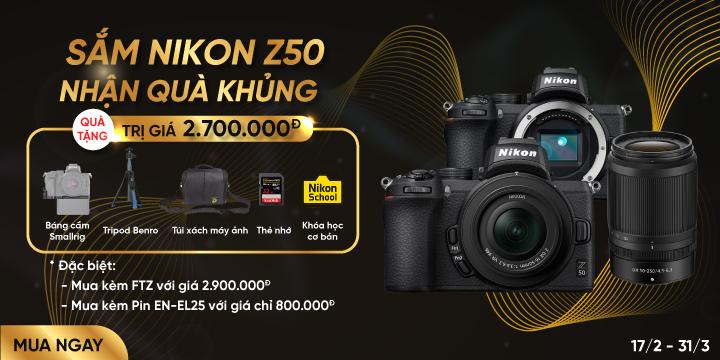 Mua may anh Nikon Z50 nhan qua khung