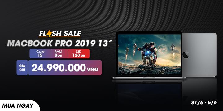 Flash Sale Macbook Pro 2019 13-inch giảm còn 24tr990k