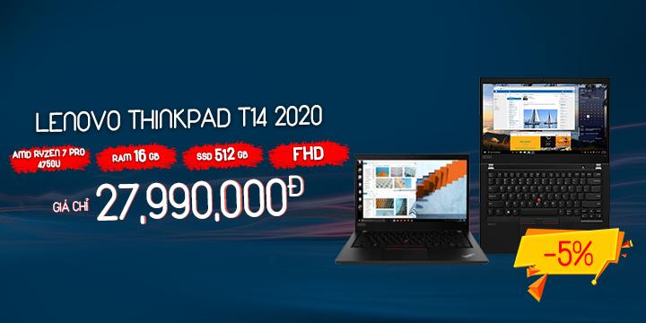 Lenovo T14 2020 giảm còn 27tr990k