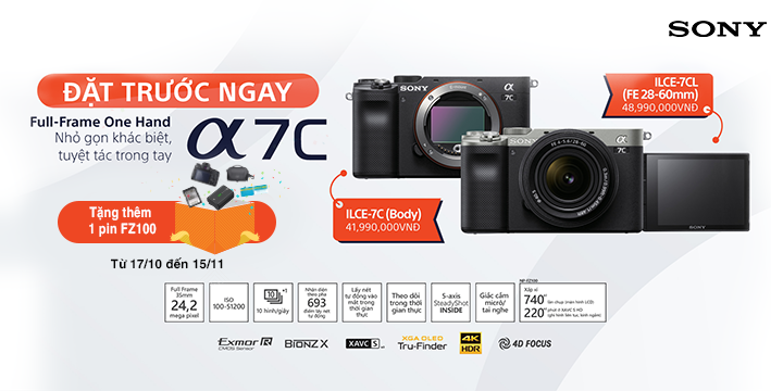 Preoder May anh Sony a7C gia tot tai zShop_2020