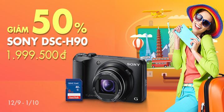 Mua máy ảnh Sony H90 giá giảm 50%