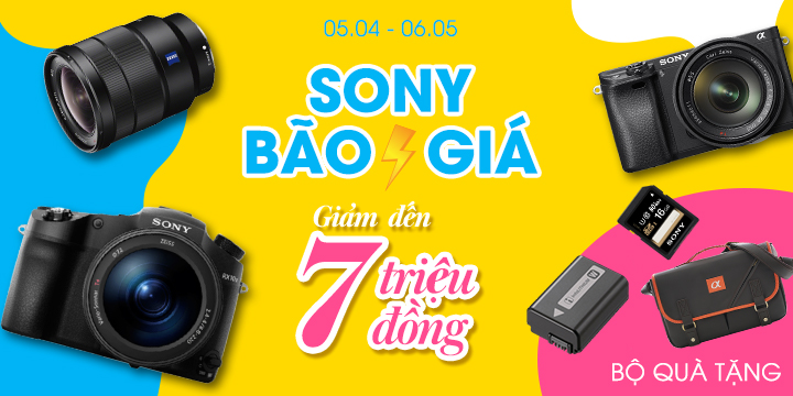 Máy ảnh Sony bảo giá giảm đến 7 triệu đồng