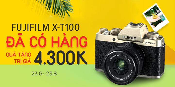 Mua Fujifilm X-T100 nhận ngay quà tặng lên đến 4tr3