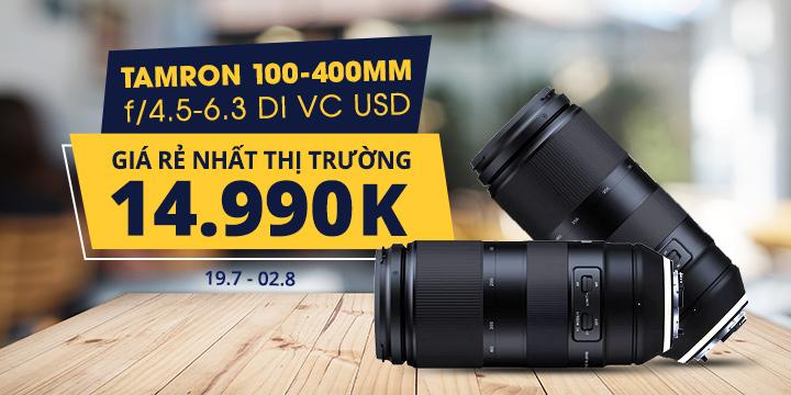 Tamron 100-400mm giá rẻ nhất thị trường