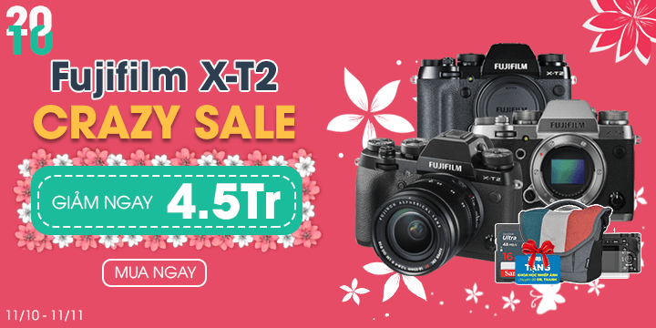 Crazy sales Fujifilm X-T2 giá cực chất
