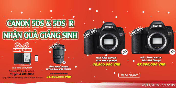 Canon 5DS, 5DS R nhận quà giánh sinh