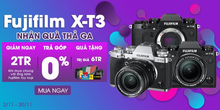Fujifilm X-T3 nhan qua lên đến 6tr